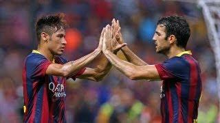 جميع أهداف برشلونة في الاستعدادات الصيفية 2013