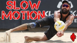 Beach Volleyball in Slow Motion