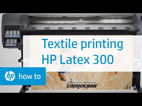 Textile Printing on the HP Latex 300 Printer Series