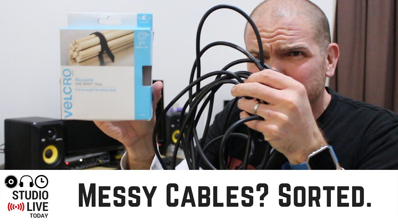 Use Velcro One Wrap Straps To Organize Messy Cables Youtube Wiring