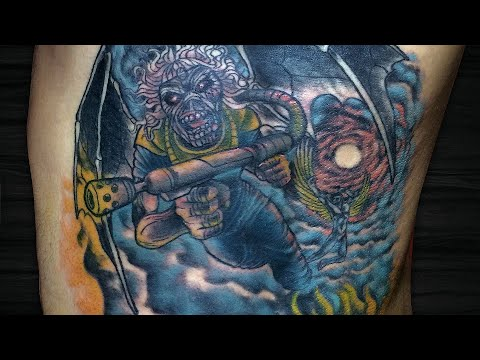 CAPA DO IRON MAIDEN | Flight of Icarus - Tattoo Time Lapse #115