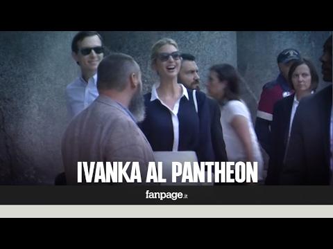 Ivanka Trump a Roma, visita blindata al Pantheon per la figlia del presidente Usa