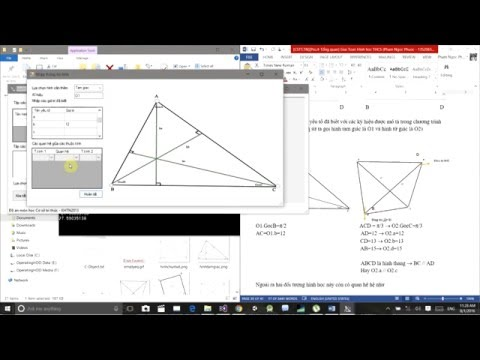Ứng dụng giải toán hình học THCS sử dụng mô hình COKB - Đồ án môn Cơ sở tri thức