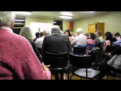 Mortlake community meeting to discuss the wind farm. Autumn 2012