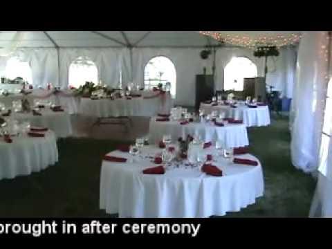 Table 4 decor tent wedding at black forest inn youtube junglespirit Images