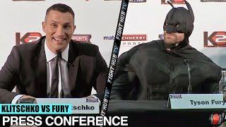 Wladimir Klitschko vs Tyson Fury full video - press conference & face off video