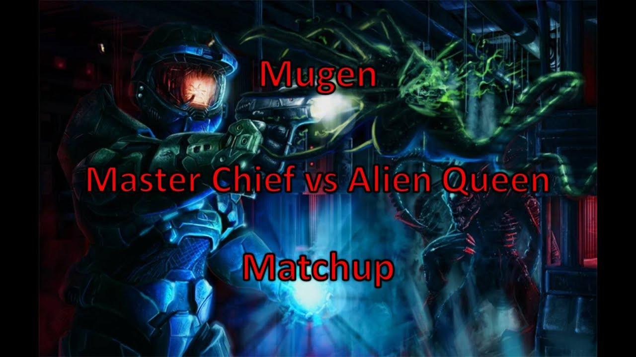 Master Chief vs Alien Queen - YouTube