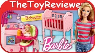 Barbie Doll Careers Babysitter Furniture Playset Tutorial And Review By Thetoyreviewer