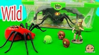 shopkins season 4 visit interactive attack wild pets spider in cage habitat at zoo cookieswirlc