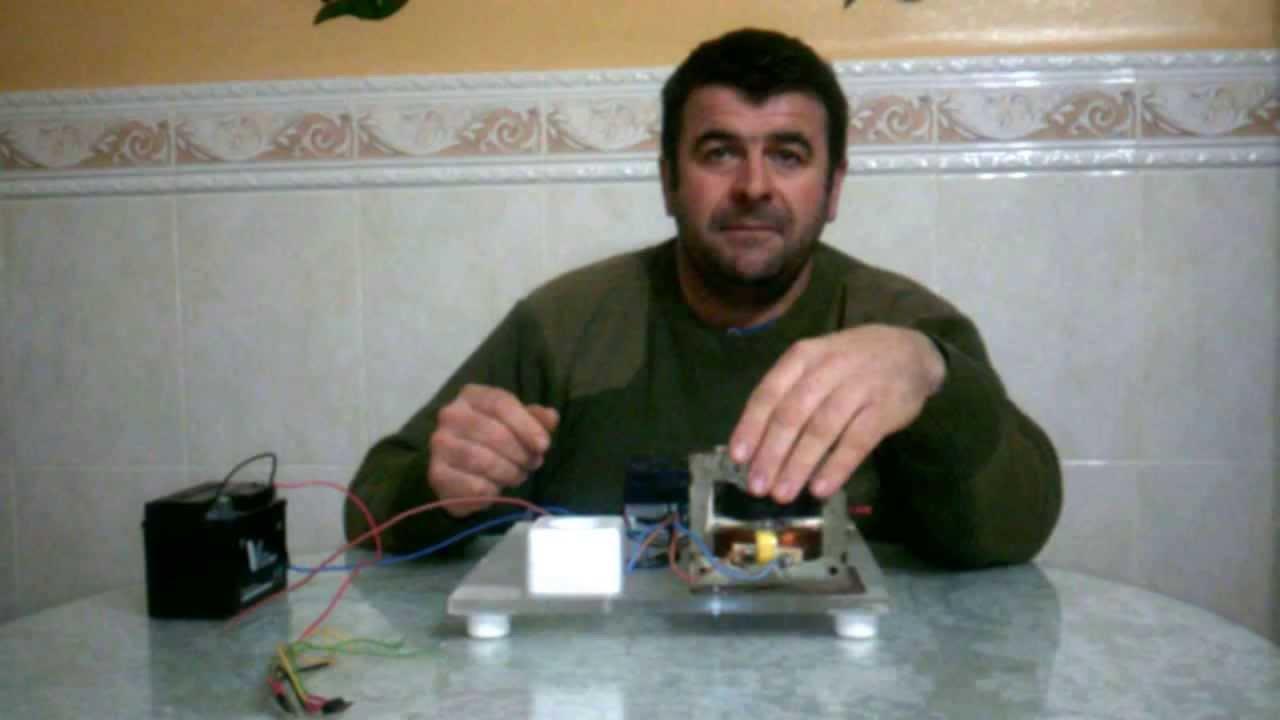 Inversor de 12v a 220v con el transformador de un for Transformadores de corriente 220v a 12v
