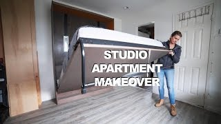 Pimped out DIY Murphy bed | Studio Apartment Makeover