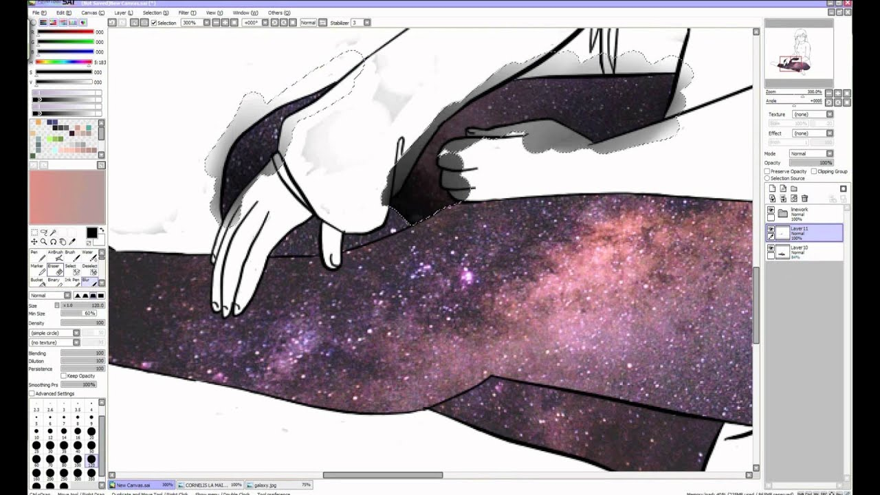 how to draw galaxy with paint
