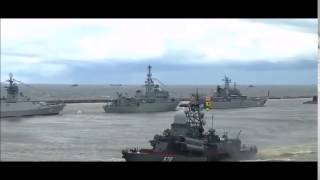 Ракета не взлетела на параде в Балтийске в честь дня ВМФ!Круто !
