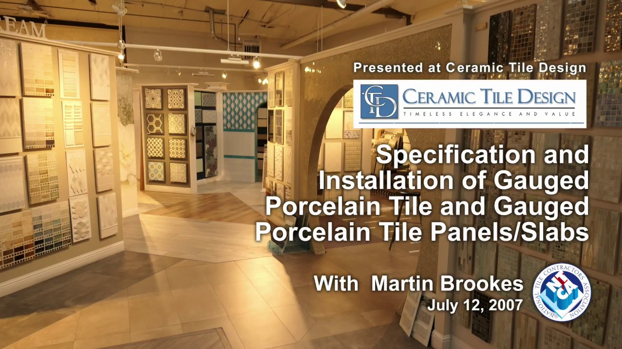 Specification Installation Of Gauged Porcelain Panels