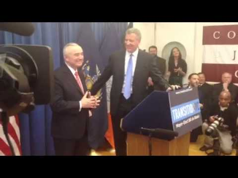 Bill Bratton speaks after being named the next police commissioner of NYC