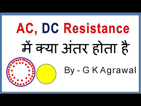 AC Resistance And DC Resistance Difference, In Hindi