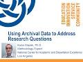 Using Archival Data to Address Research Questions