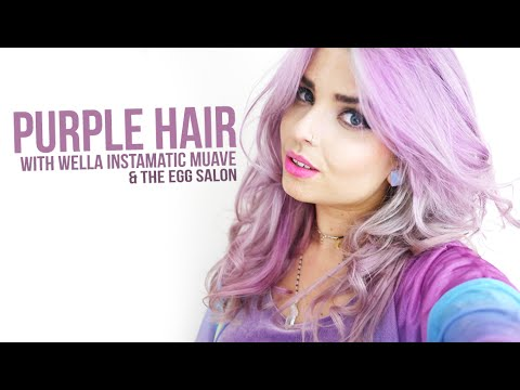 Purple hair ft the egg salon wella instamatic youtube for Color touch salon