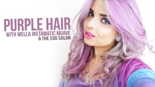 Purple Hair Ft. The Egg Salon & Wella Instamatic