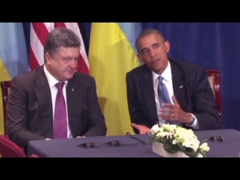 Obama vows to stand with Ukraine President-elect
