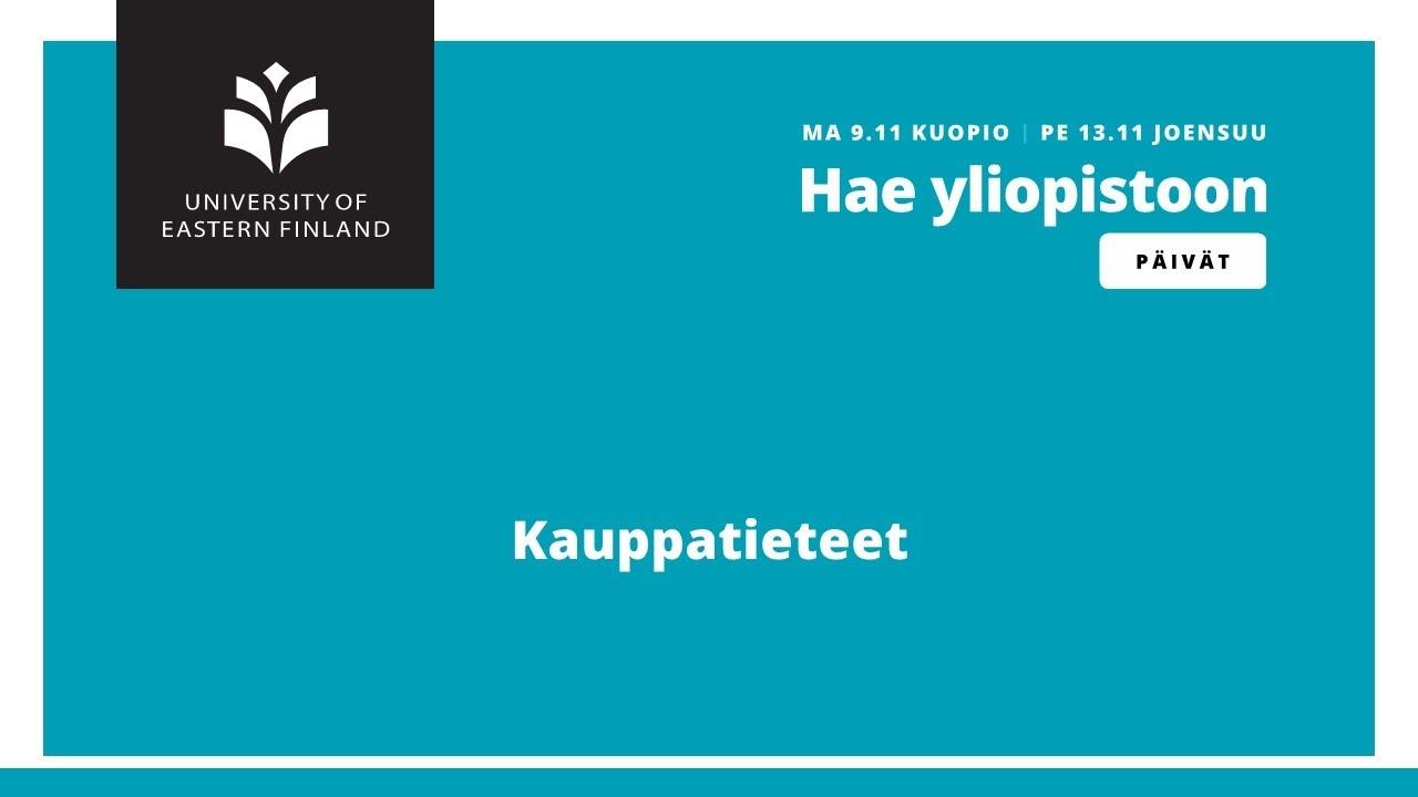 Kauppatieteet Kuopio