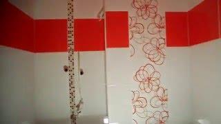 Красно-белый санузел