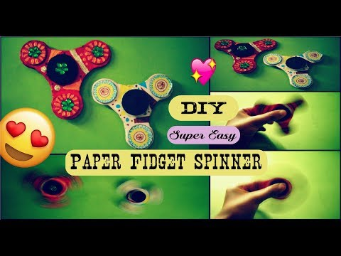 BEST Fidget Spinner DIY without bearing | Super easy | Must try DIY