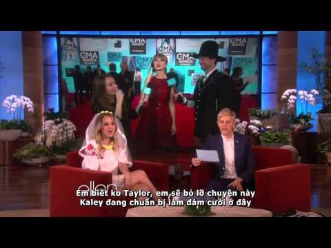 [Vietsub] The Ellen Show: Taylor Swift On The CMA Red Carpet (2013)