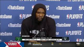 Kevin Durant Post Game Press Conference Game 1 vs Bucks NBA Playoff 2021