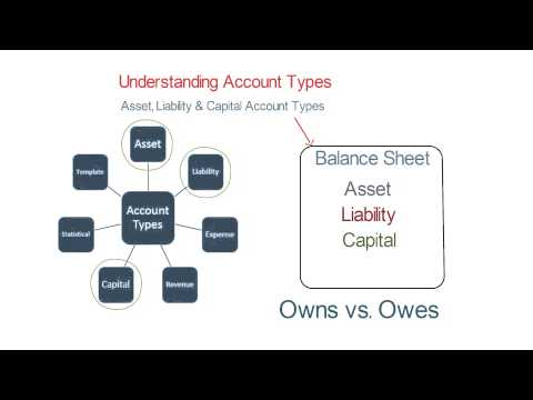 Asset, Liability and Capital Account Types