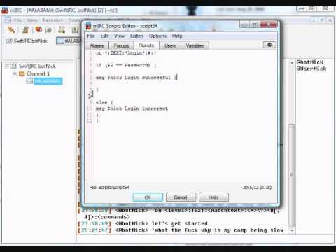 mIRC Scripting Tutorial 1 - Getting Started - Simple Login