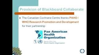 Cochrane Canada: Risk of bias assessment of RCTs in Cochrane Reviews with Lucy Turner
