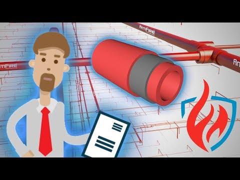 Пожаростойкие пластиковые  трубы AntiFire для систем водяного пожаротушения