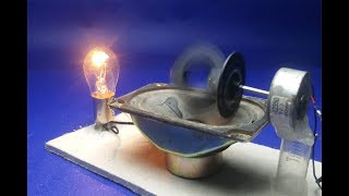 New Science project DIY experiment - Free energy Light bulb in speaker magnet
