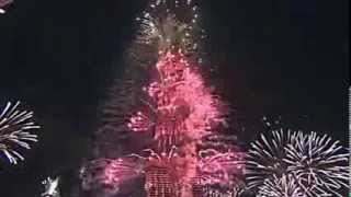 Burj Khalifa Dubai Biggest Fireworks in the world 2014