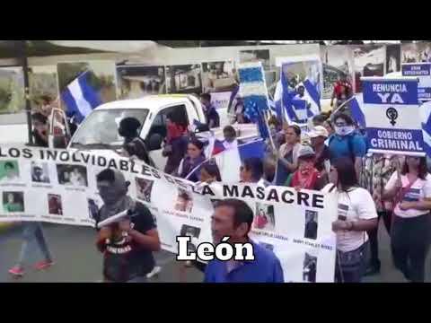 Autoconvocados marchan por la democracia en Managua y León