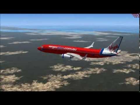 FSX Virgin Blue 737 800 Brisbane To Hamilton Island 3 Half Way To Rockhampton