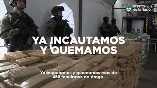 Juntos estamos cambiando en serio - Lucha contra el narcotráfico