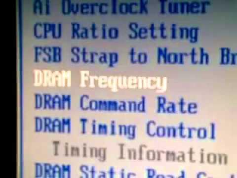 Cómo cambiar la frecuencia de la memoria RAM