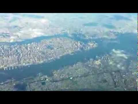 Flying over Manhattan and Reykjavik