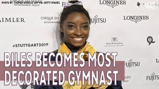 Simone Biles is world championships' most decorated gymnast