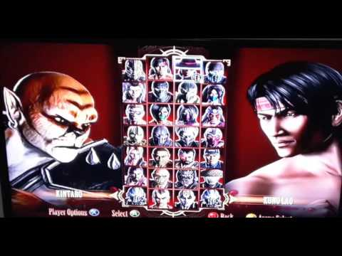 Mortal Kombat 9 XBOX360 Mod Boss Play As GORO,KINT