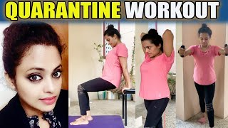 5 Minutes: Full Body Workout Home | Yamuna Chinnadurai | TV Actress