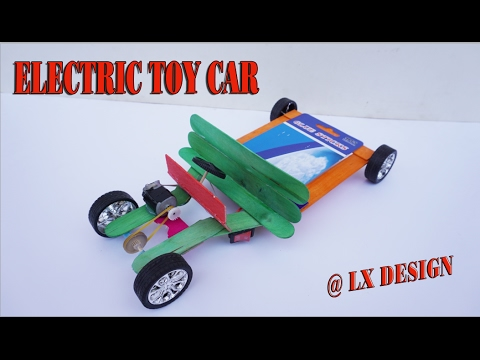 How To Make An Electric Toy Car Diy Very Easy At Home Youtube