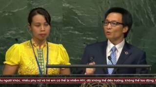 Phó thủ tướng Vũ đức Đam phát biểu bằng tiếng anh trước hộ đồng bảo an liên hợp quốc
