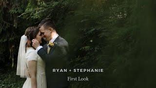 STUNNING UTAH FIRST LOOK - RYAN + STEPHANIE  at Garden Ward Park