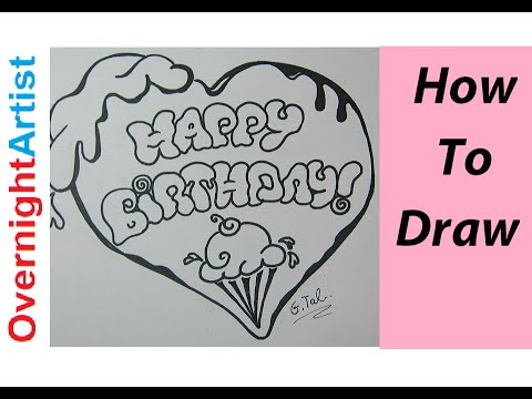 Write Happy Birthday Bubble Letters Ice Cream Heart Youtube