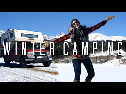 Winter Truck Camping Colorado Mountains!  This Is Amazing!