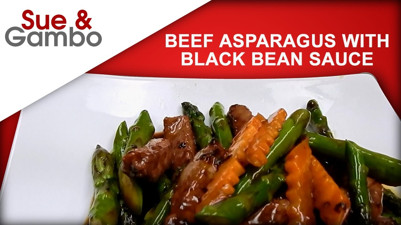Chinese Beef Asparagus With Black Bean Sauce Stir Fry