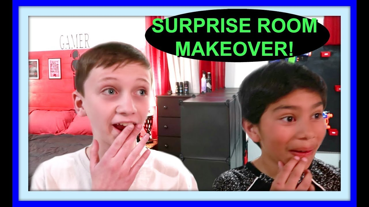 Room Makeover For Teens Surprise Bedroom Tour Youtube